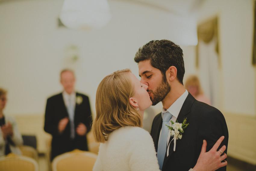 poljubac nakon ceremonije