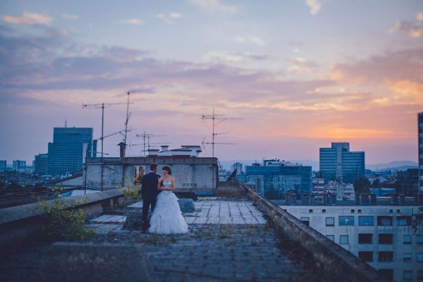slikanje vjenčanja na krovu