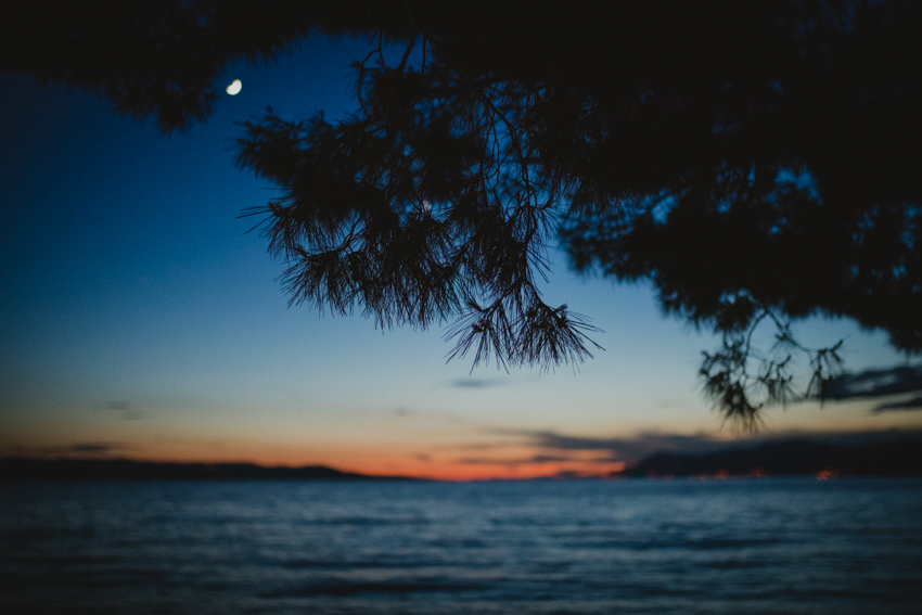 sumrak na plaži